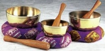 Seven-Metal Singing Bowl Set with Mallets-BW640